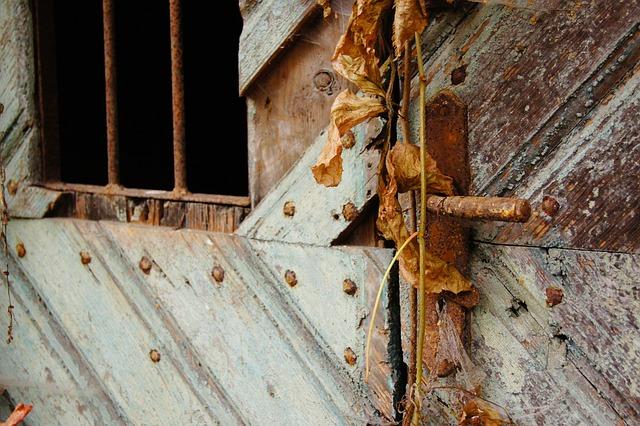 Door, Stainless, Old, Door Lock, Close Door Handle