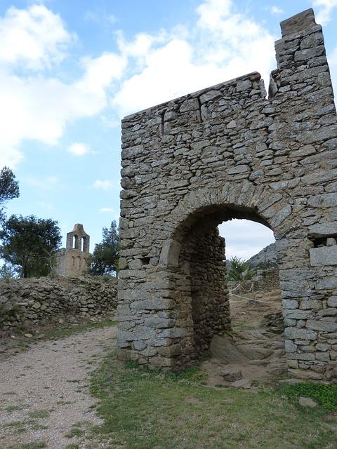 Ruins, Romanesque, Door