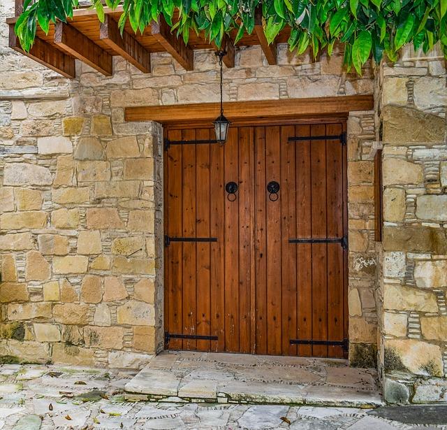 Door, Doorway, House, Wall, Entrance, Architecture