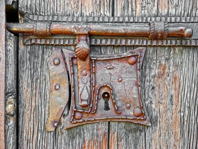 Bolt, Crafts, Iron, Wood, Forging, Church, Door