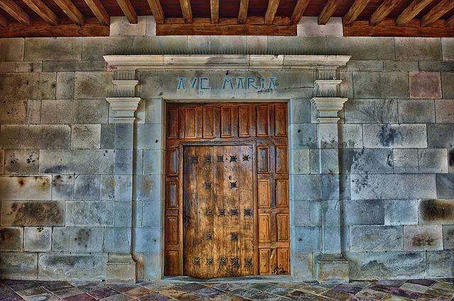 Door, Entry, Wood, Church Entrance, Pierre