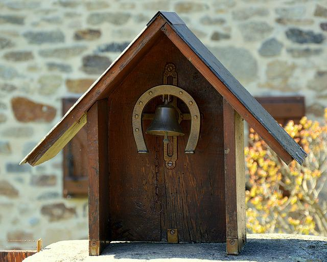 Bell, Small House, Horseshoe, Doorbell