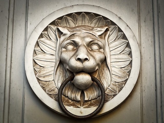 Doorknocker, Church, Lion, Architecture, Building
