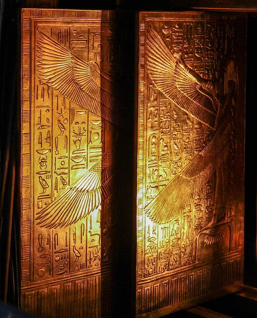 Tutankhamun, Doors, Golden, Treasure, Valuable, Gold