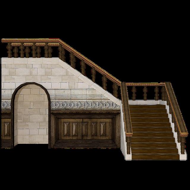 Wooden, Stairs, 3d, Render, Wood, Stairway, Doorway