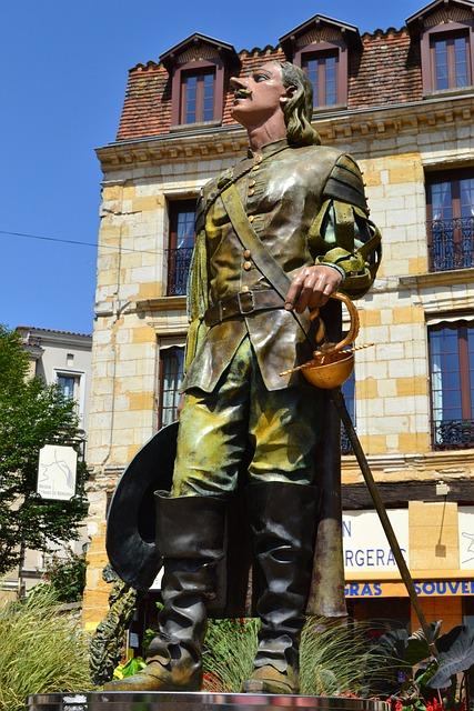 Cyrano De Bergerac, Bergerac, Monument, Poet, Dordogne