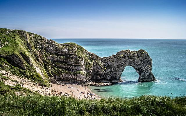 Durdle Door, Cliffs, Dorset, Durdle, England, Beach