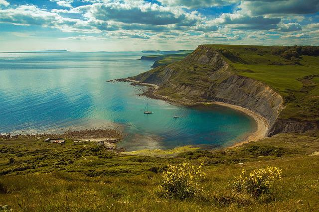 Chapmans Poole, Sea, Zaliv, Priroda, Dorset, England