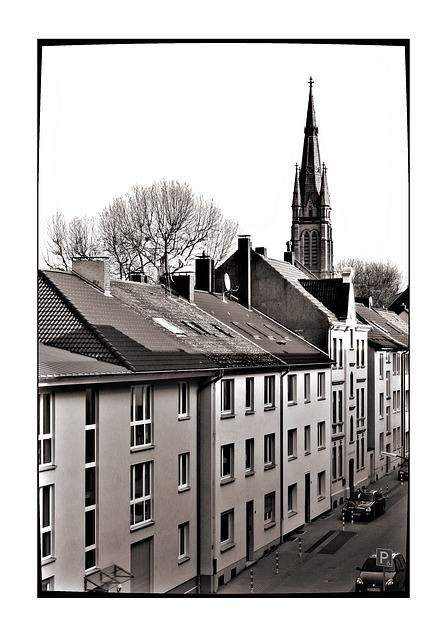 Dortmund, Authority, Hörde, Black And White, Sw, Church