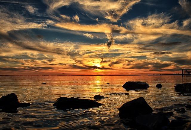 Sunset, Sundown, Dorval, Quebec, Canada, Montreal