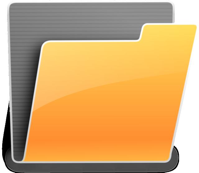 Dossier, Folder, Documents, Computer, Office, Orange