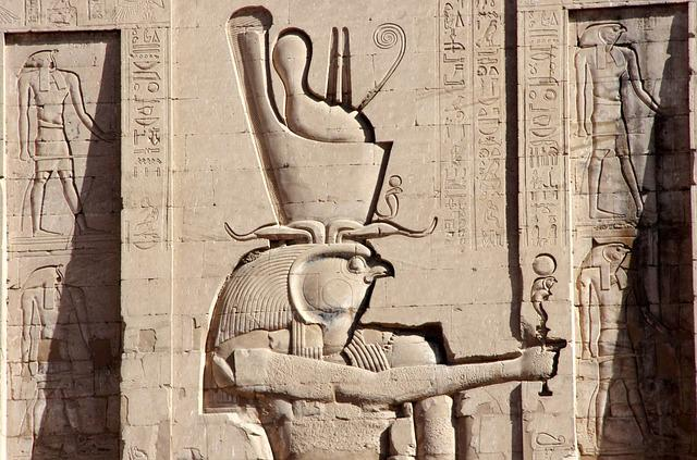 Egypt, Edfu, Temple, Divinity, Horus, Double Crown