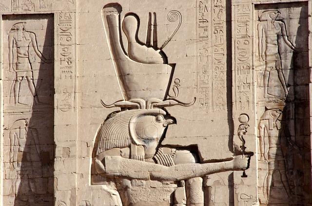 Egypt, Edfu, Temple, Divinity, Horus, Double Crown