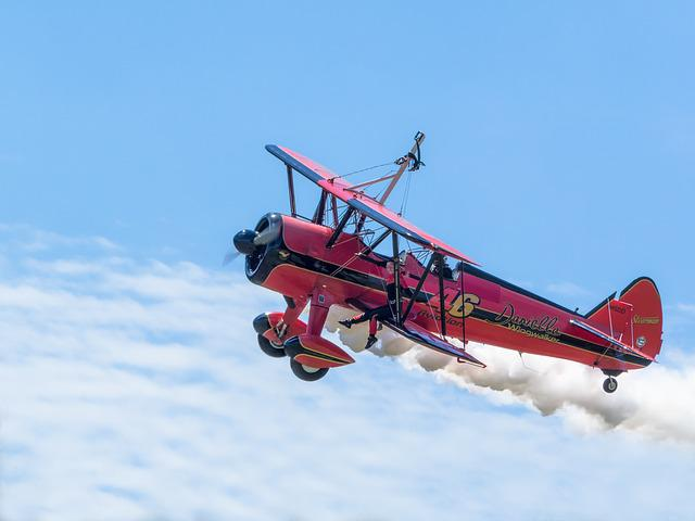 Aircraft, Double Decker, Wingwalker, Oldtimer