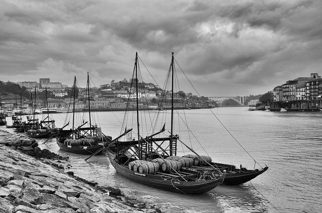 Rabelo Boat, Porto, Douro, Portugal, River Douro