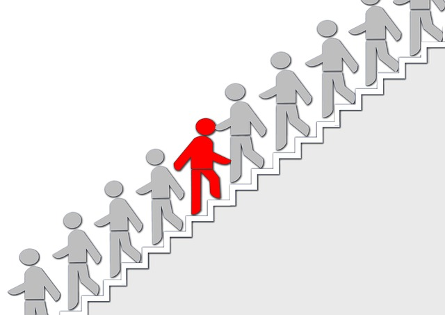 Stairs, Silhouettes, Human, Upward, Down, Individuality