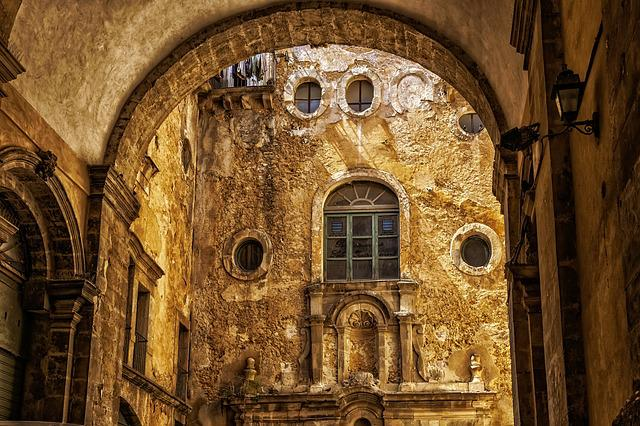City, Old Town, Backyard, Archway, Downtown, Sicily