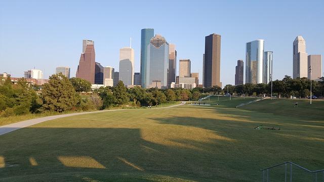 Houston, Downtown, City, Texas, Park, Scenic, Cityscape