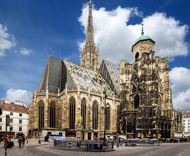 Vienna, Church, St Stephan's Cathedral, Downtown