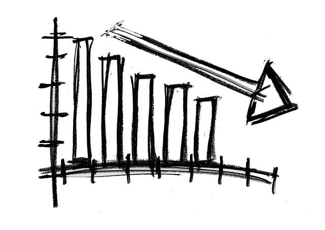 Symbol, Arrow, Direction, Down, Trend, Downturn, Banks