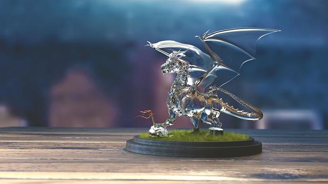 Dragon, Glass, Showing