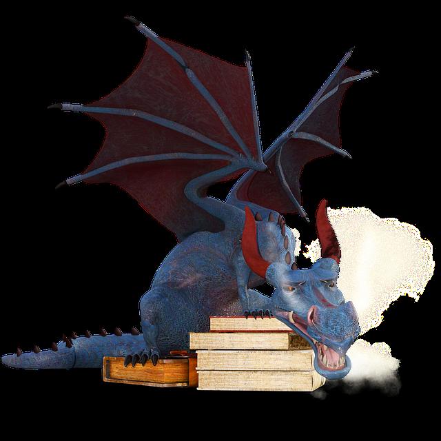 Dragon, Books, Magic, Mystical, Mythical Creatures
