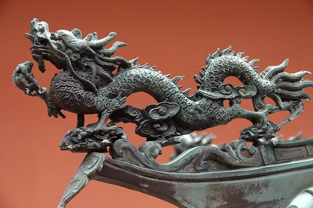 Dragon, Art, Sculpture, Ornament