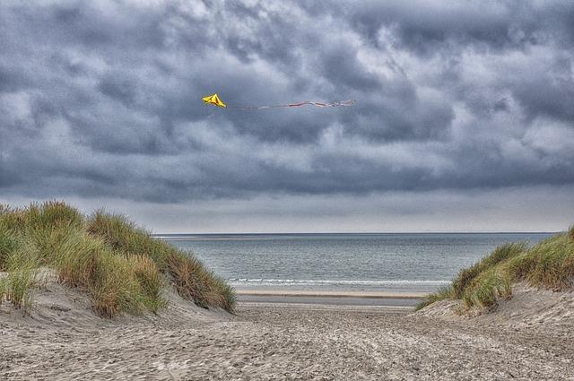 Ameland, Beach, Sea, Dragons, Wind, North Sea