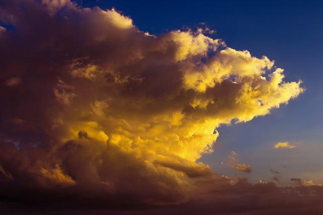 Sky, Clouds, Dramatic, Fire, Nature, Colors, Dusk