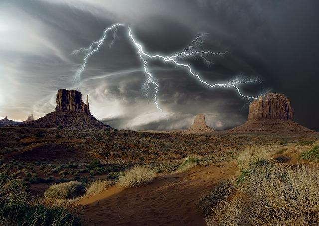 Landscape, Storm, Rock, Mountain, Dramatic, Weather