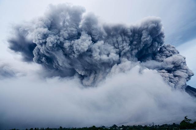 Volcanic Eruption, Ash Cloud, Dramatic