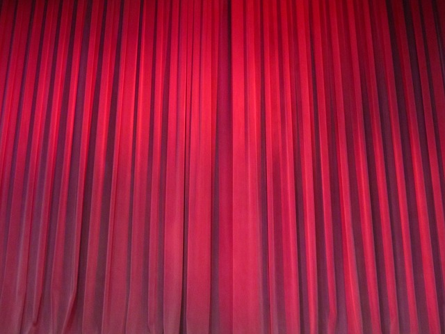 Red, Curtains, Drapery, Theater, Velvet, Fabric
