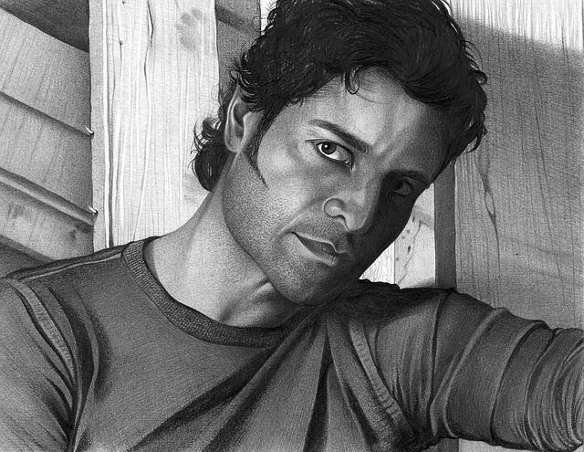 Chayanne, Drawing, Draw, Art, Pencil, Man, Serious
