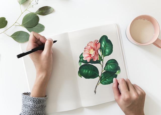 Woman, Hand, Aerial, Art, Botanic, Design, Drawing