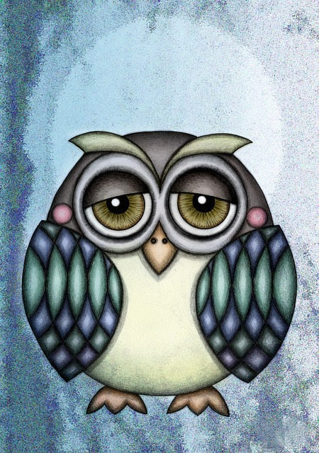 Owl, Illustration, Drawing, Ave