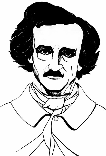 American, Author, Drawing, Edgar Allan Poe, Novelist