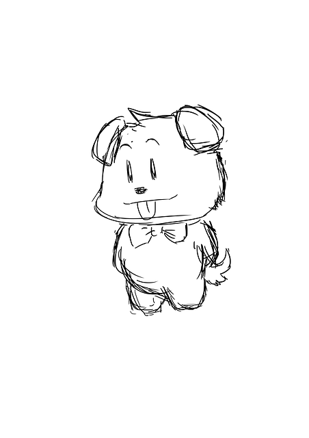 Sketch, Doggie, Puppy, Drawing, Cute, Animal