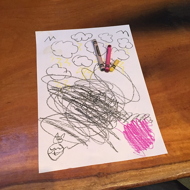 Child, Scribbles, Drawing, Crayons, Doodle, Sketch