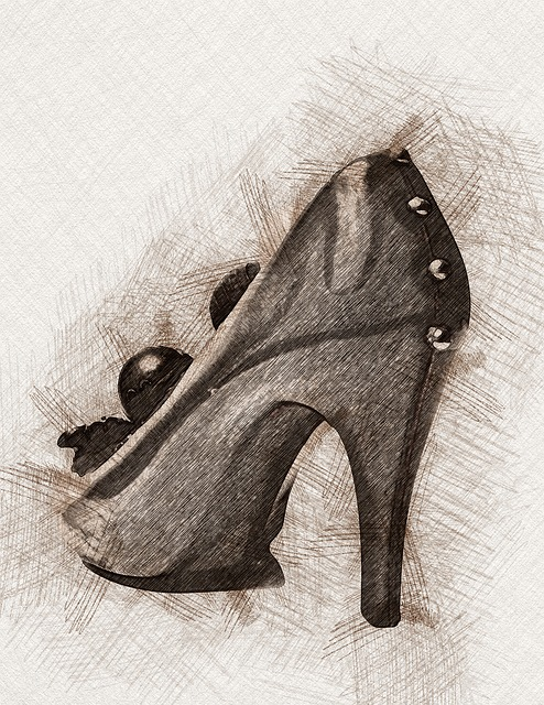 Shoes, Background, Pencil, Sketch, Drawing