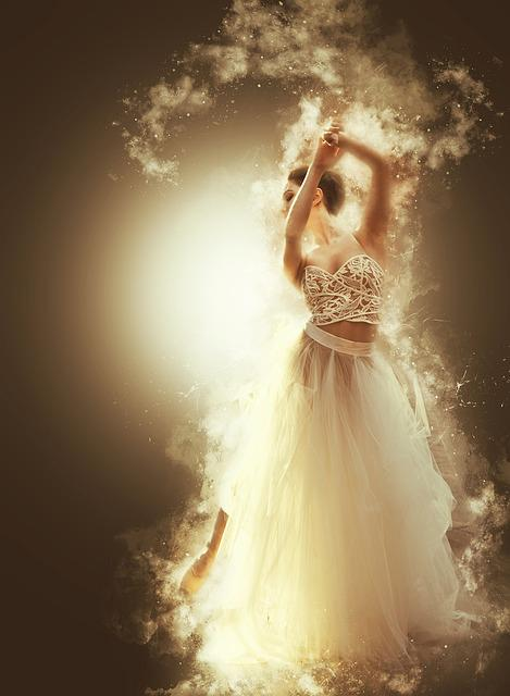 Bride, Dance, White, Ethereal, Dream, Smoke, Smoky