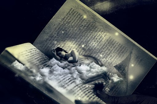 Woman, Bed, Dream, Sleep, Fantasy, Photomontage