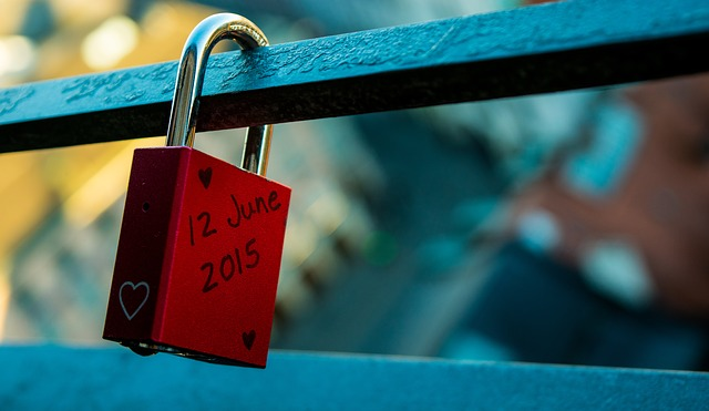 Padlock, Couple, Dream, Wish, Red, City, Fence, Date
