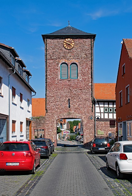 Dreieich, Three Oak Grove, Hesse, Germany, Old Town