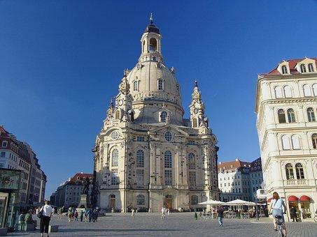 Dresden, Frauenkirche, Building, Landmark, Architecture