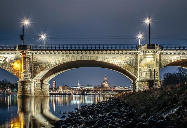 Bridge, Dresden, Old Town, Elbe, River, Building, City