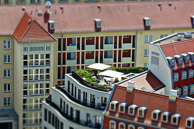 Roof Terrace, Architecture, Dresden, City View