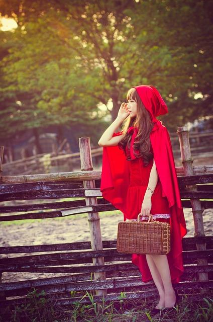 Girl, Red Riding Hood, Hood, Riding, Young, Dress