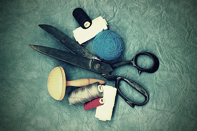 Scissors, Old, Sewing, On Peace, Work, Dress, Haute