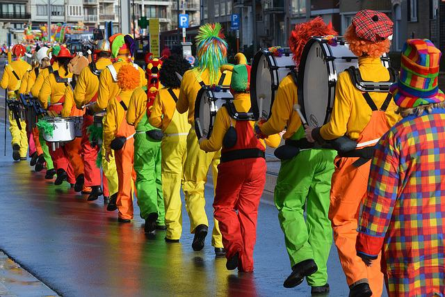 Carnival, Mask, Costume, People, Dress Up, Procession