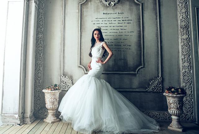 Wedding Dress, Bride, Extravagant, Fancy, Luxury, Dress